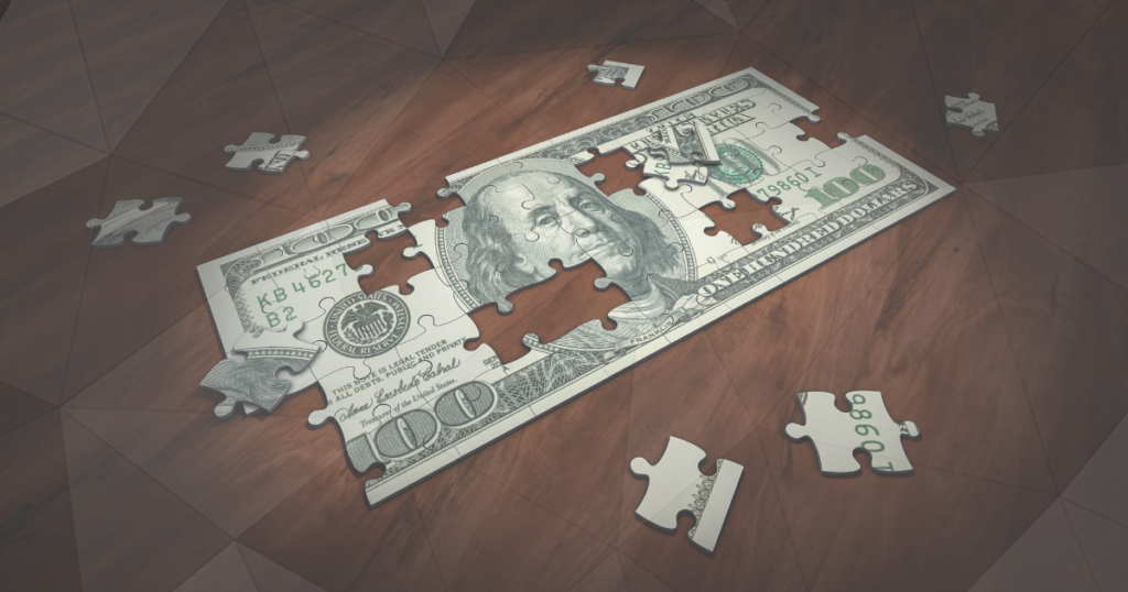 This is an Image of a USD Jigsaw in Pieces