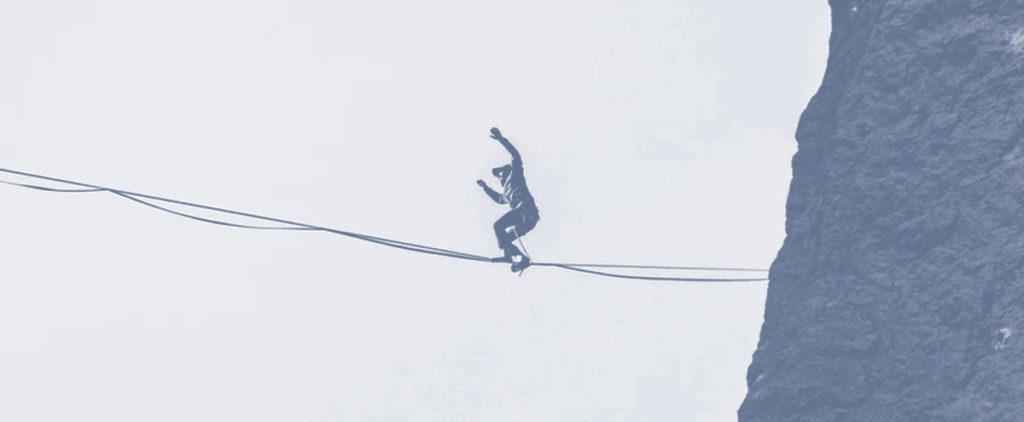 Man balancing on a rope