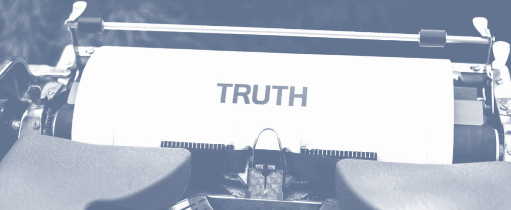 Typing the truth on a typewriter
